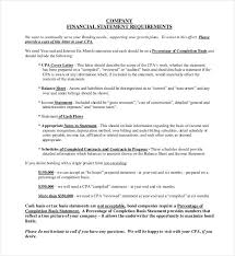Financial Statement Cover Letter 32 Financial Statement Templates Pdf Doc Free