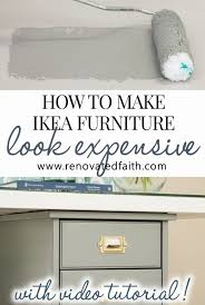 how to paint ikea furniture so it looks