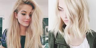 Dying hair bleach blonde