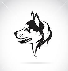 Husky Stock Chart Silhouette Of A Dog Siberian Husky Vector By Yod67 On