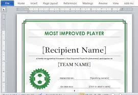 soccer awards templates printable sports certificate template for word