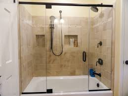 Simple Bathroom Shower Glass Door On Small Home Remodel Ideas With