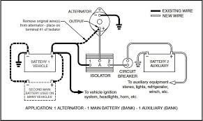 battery isolator wiring diagram battery download wirning diagrams installing dual batteries in a truck at Gm Dual Battery Wiring Kit