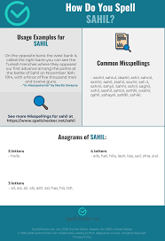 Learn vocabulary, terms and more with flashcards, games and other study tools. Correct Spelling For Sahil Infographic Spellchecker Net