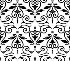 Black And White Vintage Design Seamless Simplistic Black And White Vintage Wallpaper Stock Vector Image
