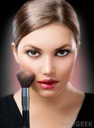 baked blush can be applied with a brush or with a wet makeup sponge