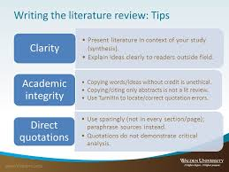 Writing a Literature Review  handout    literature review layout