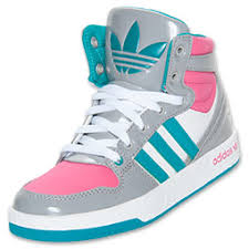 adidas shoes for girls. girls\u0027 preschool adidas originals court attitude casual shoes | finish line grey/pink for girls