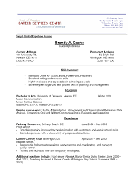 How To Write A Resume For Experienced How To Write A Resume Experience No Job Sample Objective For College 5