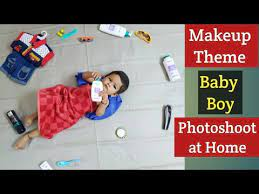 baby photoshoot idea at home makeup
