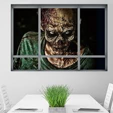 window zombie removable 3d wall art sticker