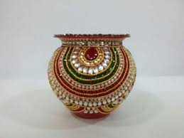 Kalash Decoration Design Decorative Kalash Wedding Accessories Shruti Arts Gallery 2