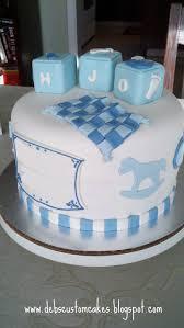 Debs Custom Cakes New Baby Boy Cake