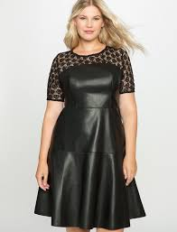 eloquii plus size studio lace and leather dress