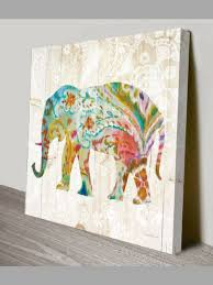 bohemian decor elephant canvas print wall art hanging giclee framed paisley decor bohodecor on paisley print wall art with bohemian decor elephant canvas print wall art hanging giclee framed