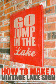 A Vintage Sign Lake Make