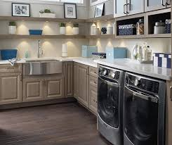 kitchen laundry room cabinets laundry. Laundry Room Featuring Davis Cabinets In Maple Seal And Open Shelving Kitchen P