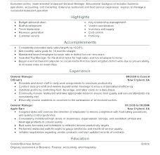 Restaurant Manager Resume Sample Fascinating Sample Resume Restaurant Manager Socialumco