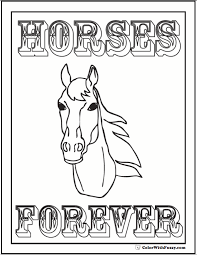 Small Picture Head Coloring Page Horses Are Forever