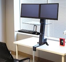 pedestal sit stand desk converters