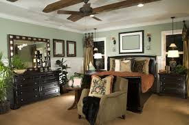 furniture color matching. designer decorated bedroom with wood sleigh bed and matching furniture color e