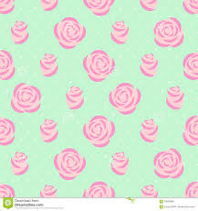 Seamless pink roses pattern on mint green background.