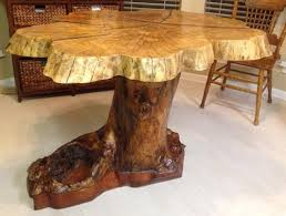live edge round dining table jerry l