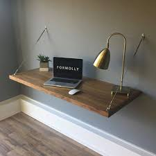 wall mounted office desk.  Wall Floating Desk Wall Mounted Walnut By FormollyDesks On Etsy And Office