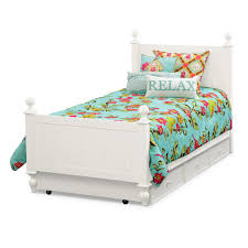 white twin bed. Colorworks Twin Bed With Trundle - White