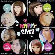 2ne1 happy makeup collaboration