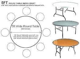 60 inch round tables seat how many diameter table seats linens beautiful what s