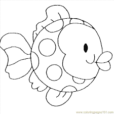 Coloring Pages Free Printable Coloring Page Childrens Fish Animals