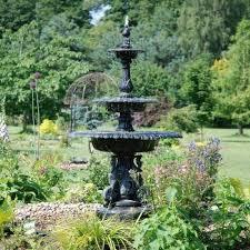 bronze 3 tier ornate swan water