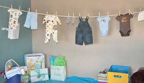 ... Creative Decoration Baby Shower Clothes Homely Idea Clothesline Images  Handycraft Ideas ...