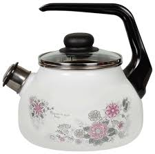 Купить <b>Чайник эмалированный</b> 2 литра со <b>свистком</b> Весенний ...