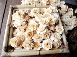 Wood Roses - Birch Wood Shavings - Floral Craft Supplies - 200 pcs