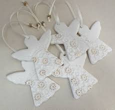 Porcelain Christmas decorations. White & gold. Ceramic ornaments ...