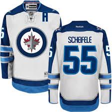 White - Scheifele 55 Authentic Reebok Men's Mark Winnipeg Jersey Away Jets Nhl