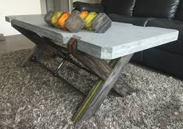 topic to coffee table concrete and woodoffee diyconcrete for diy top sensational picture inspirations designs
