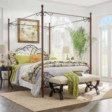 Bed Frame Mounted - Queen - Canopy - Beds & Headboards - Bedroom ...