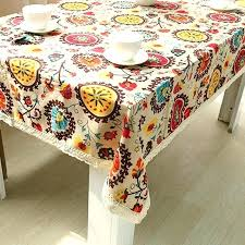 round side table cloth de cover national style cotton linen sun flower lace round side table cloth