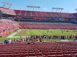 Raymond James Stadium Section 107 Tampa Bay Buccaneers