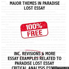themes in paradise lost essay major themes in paradise lost essay