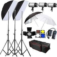 lighting set. 900W Photography Studio Flash Lighting Set