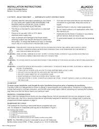 Alkco Lighting Little Inch Installation Instructions