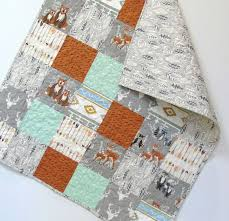 28 best Woodland Baby Quilts for Sale images on Pinterest ... & Baby Boy Quilt Woodland Nursery Hello Bear by CarleneWestberg Adamdwight.com