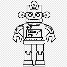 Doraemon has other unique characteristics including his fear of mice, ironic being that his a cat type robot. Coloring Book Drawing Robot Ausmalbild Robot Angle White Electronics Png Pngwing