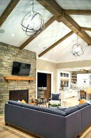 vaulted ceiling chandelier colorful lighting options ideas