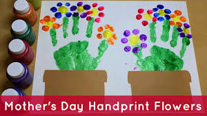 Handprint Flowers Preschool Craft Youtube Garden Craft Ideas For Preschoolers
