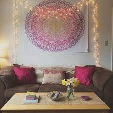 college living room decor with mandala